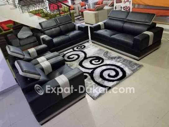 Salon 7 places simili cuir image 1