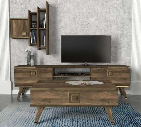 Table TV avec étagère murale image 7