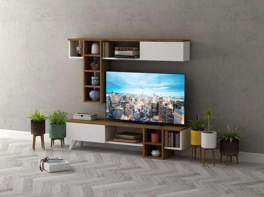 Table TV avec étagère mural image 5