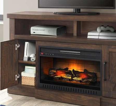 Meuble de télévision avec un chauffage intégré image 2