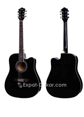 Guitare acoustique sèche Noire image 1