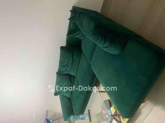 Canapé lit velour image 2