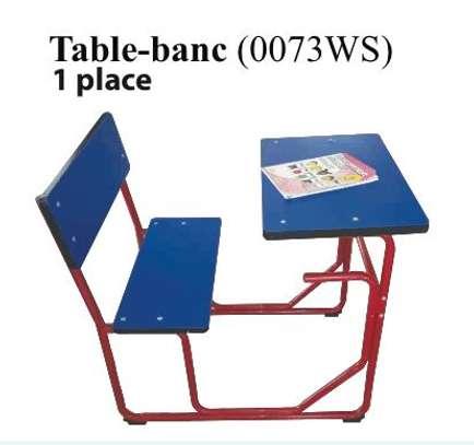 Table bancs pour école image 6