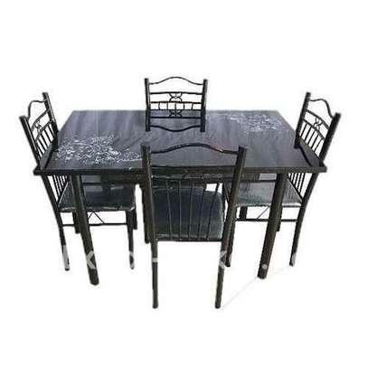 Table A Manger 4 Places - Fer Forgé - Table Vitrée image 1
