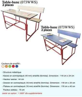 Table bancs pour école image 1