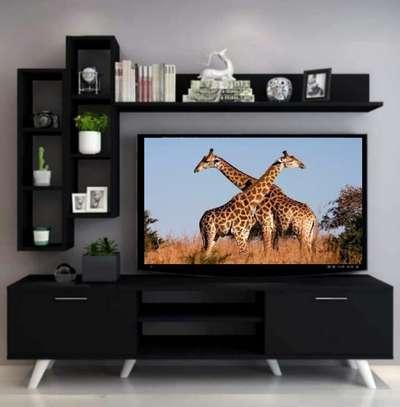 Table TV avec étagère murale image 9