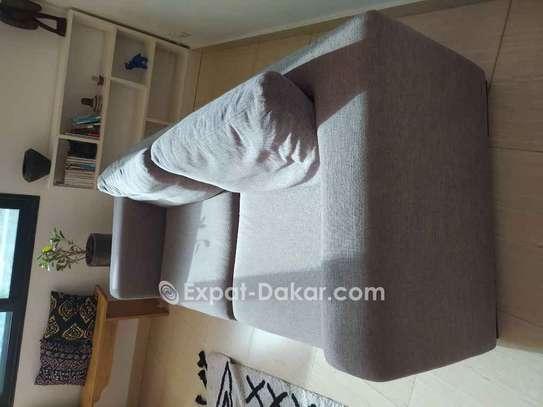 Canapé gris 3 - 4 places image 2