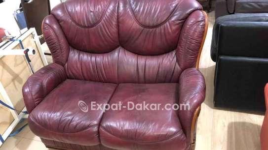 Canapé cuir 2 places image 2