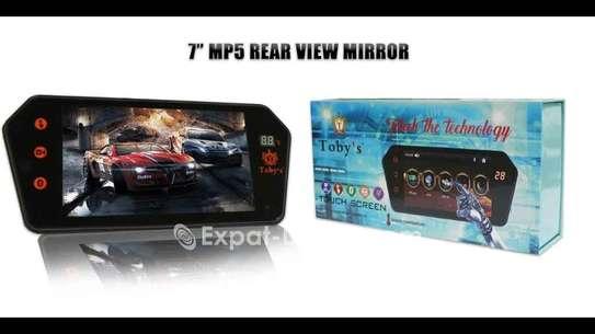 Ecran rétroviseur tactile avec lecteur multimedia, carte mémoire, clé usb, bluetooth et caméra arrière full hd image 3
