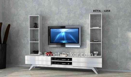 Table TV simple ou avec étagère murale image 6