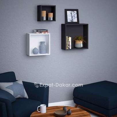 3 étagères cubes de décor image 2