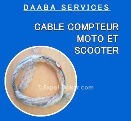 Câble compteur pour moto et scooter image 1