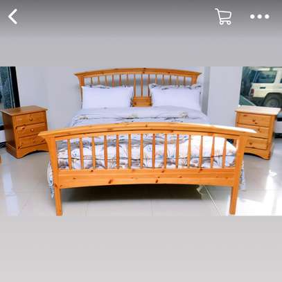 lit en bois deux places 150x190 image 1