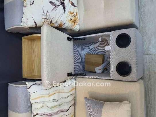 Salon 7 places avec 4 tabourets et meuble d'appoin image 2