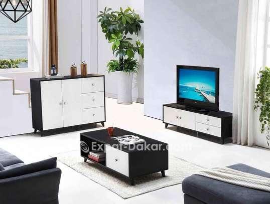 Ensemble table TV, basse et buffet image 2