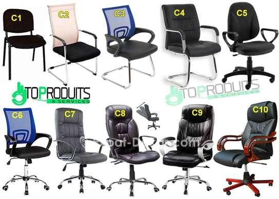 Chaise et fauteuils de bureau image 1