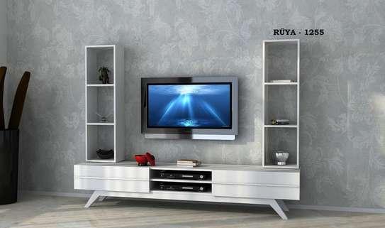 Table TV avec étagère mural image 3