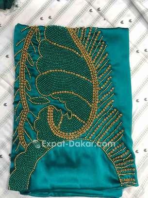 Grand Boubou soie Perlé image 1