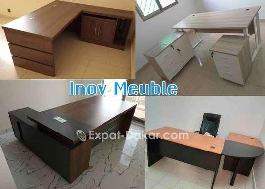 Tables de bureau avec retour/Open space image 1