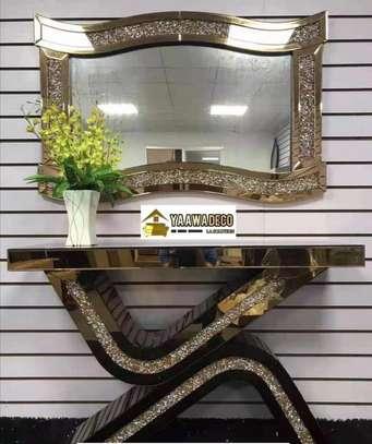Console avec miroir luxe image 2