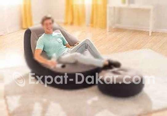 Ensemble fauteuil et pouf gonflable image 2
