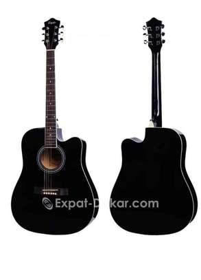 Guitare acoustique sèche Noire image 2