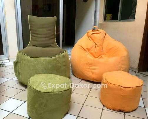 Pouf poire amande et lounge image 2