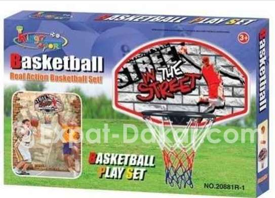 Panneau basketball mural image 2