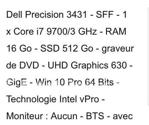 Dell precision 3431(bureau) image 2