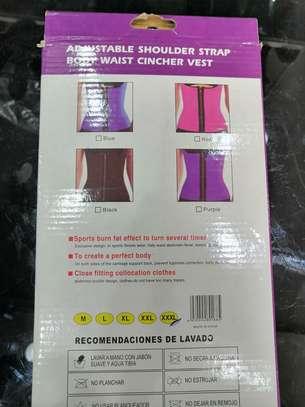 Adjustable shoulder strap body waist cincher vest image 3