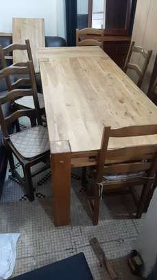 Table à manger bois robuste image 1