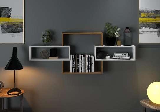 Table TV avec étagère mural image 7