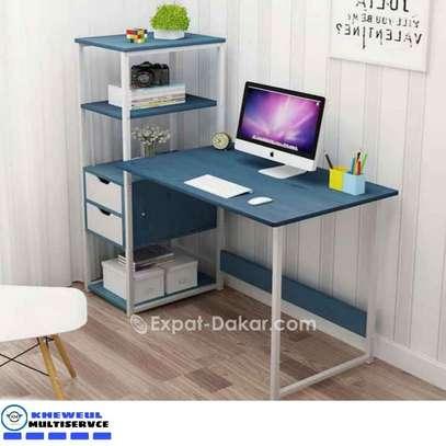 Bureau avec étagère Table de bureau Bureau d'ordin image 2