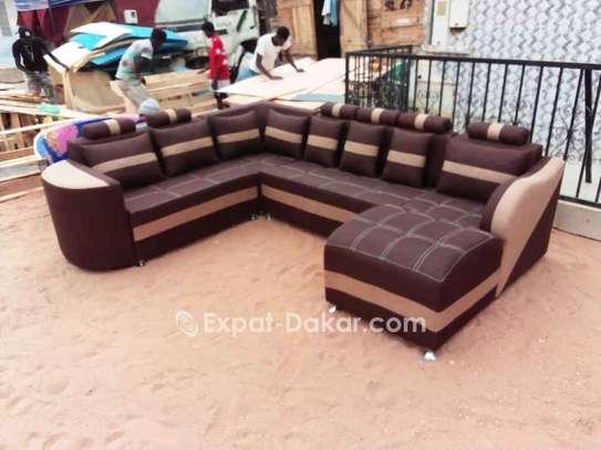Salon, fauteuils, canapé d'angle image 3
