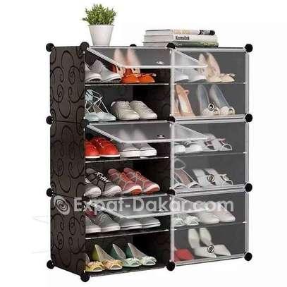 Armoire Etagère à Chaussures Modulable 6 Cubes divi image 1
