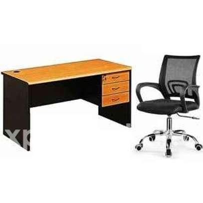 Ensemble : table de bureau 14cm + chaise fauteuil image 1
