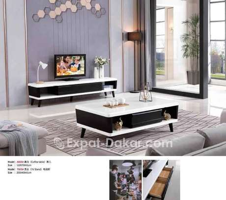 Ensemble  table tv et table basse image 1