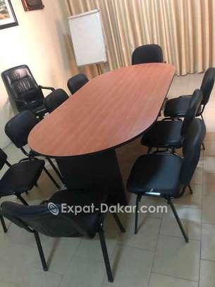 Table bureau 1m40 + chaises image 3