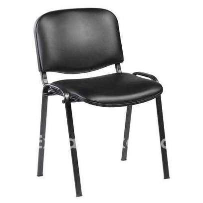 Chaise Visiteur en Simili Cuir - Noir image 1