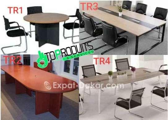 Tables de bureau avec retour/Open space image 4