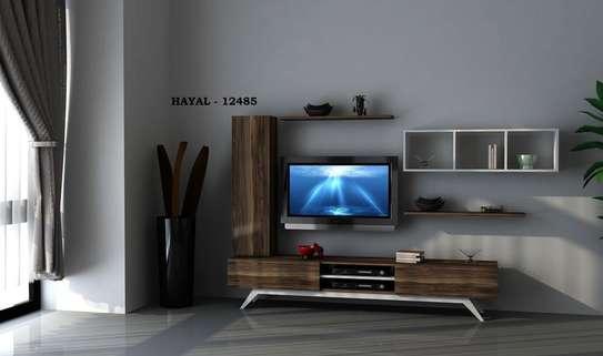 Table TV avec étagère mural image 6