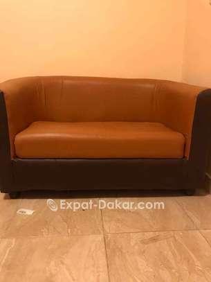 Canapé  2places Semi cuir image 1