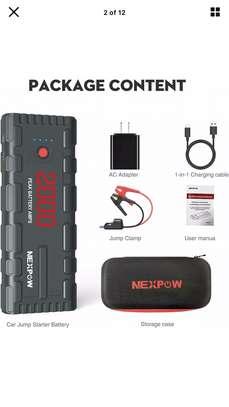 Booster de démarrage auto pour batterie à plat image 1