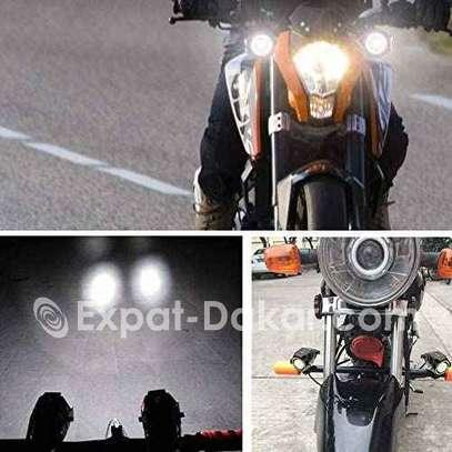 Paire Lampe Led U7 pour moto image 2