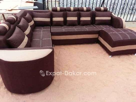 Salon, fauteuils, canapé d'angle image 2