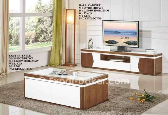 Ensemble table TV et table basse image 2