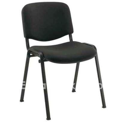 Chaise Visiteur en Tissu - Noir image 1