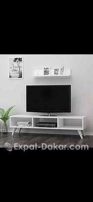 TABLE BASS TV NOIR ET BLANC image 1
