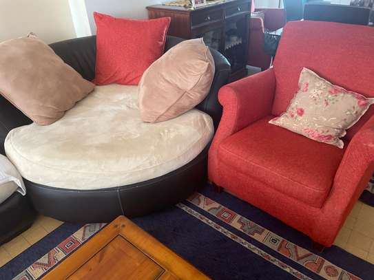 Salon canape angle avec housse de rechange image 3
