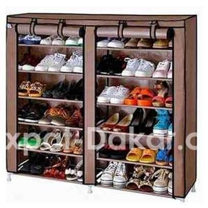 Armoire de rangement chaussures - 36 paires image 1